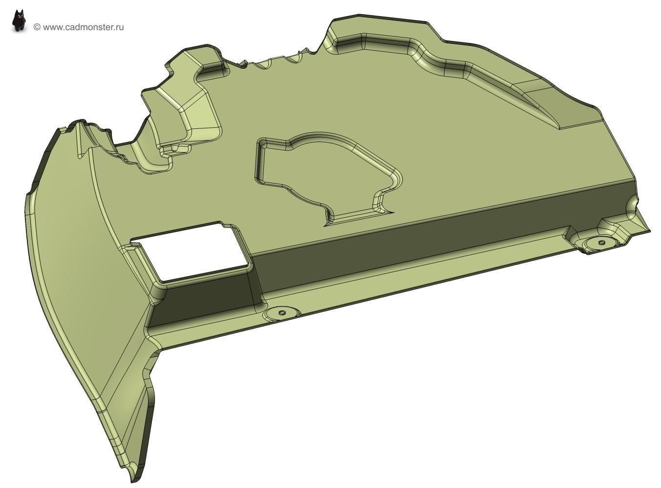 Построение 3d моделей по чертежам а